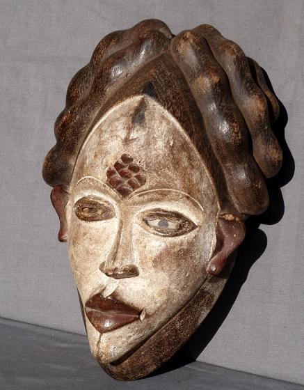 masque africain kaolin